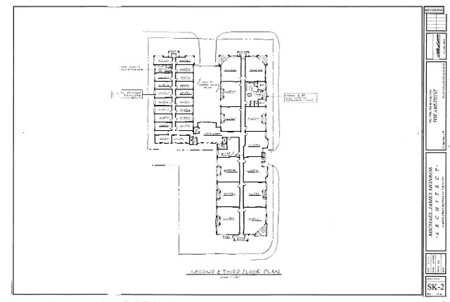 Amethyst boutique Hotel Floor Plans 1 & 2 as proposed